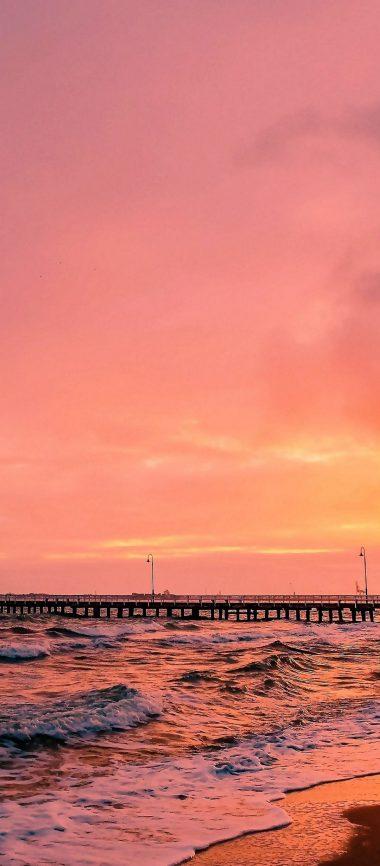 Sunset Sea Sun Landscape 1080x2460 380x866