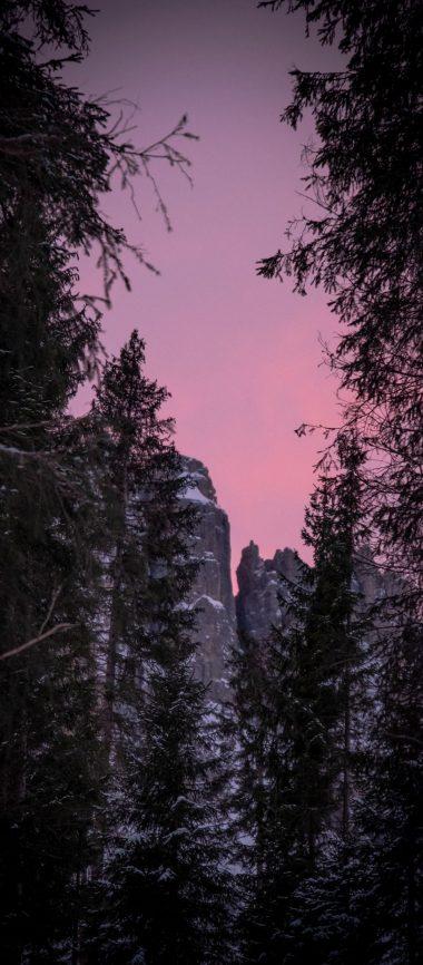Twilight Snow Mountains Nature 1080x2460 380x866