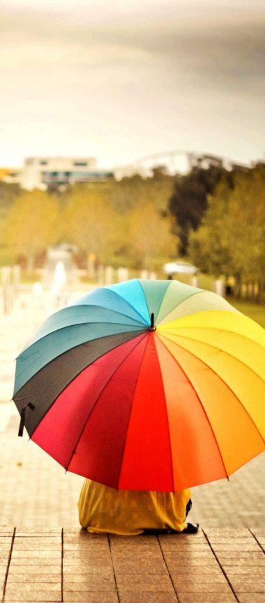 Umbrellas Colorful Kids Rainbow 1080x2460 380x866