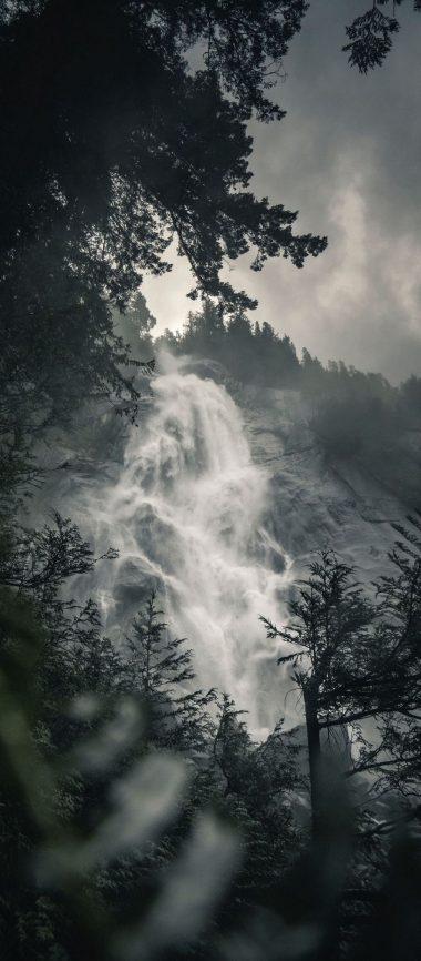 Waterfall Fog Rock 1080x2460 380x866