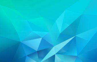 3D Blue Green Blur Polygon Wallpaper 720x1544 340x220