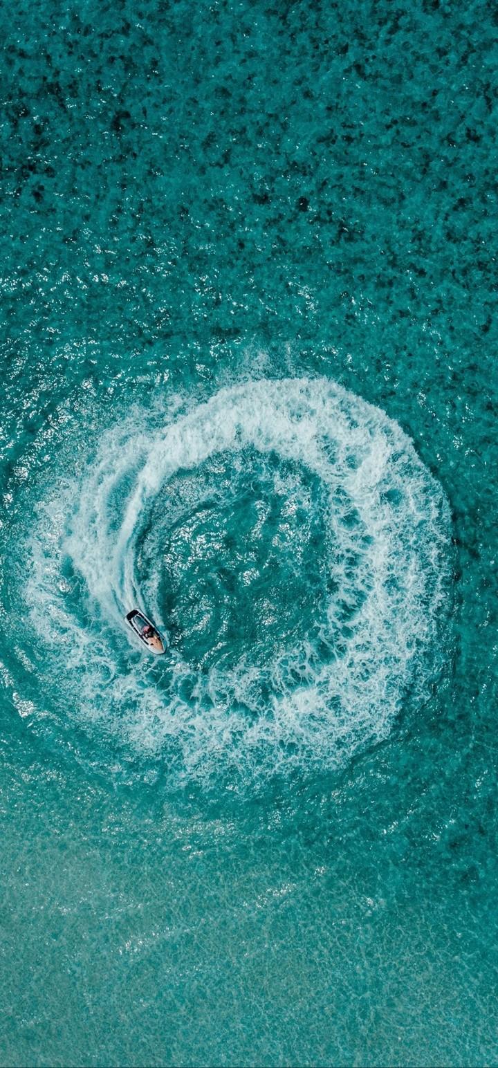 Aerial View Ocean Wallpaper 720x1544