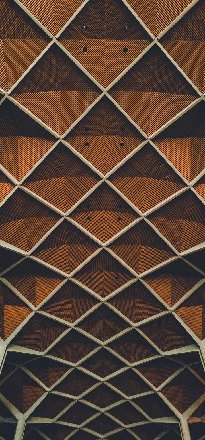 Architecture Interior Grid Wallpaper 720x1544
