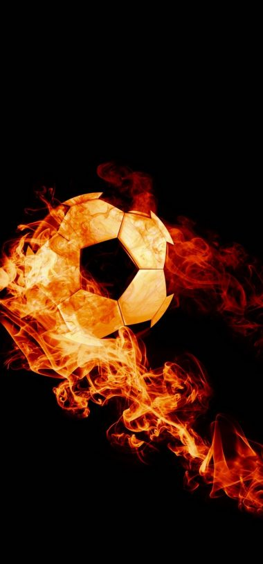 Ball Fire Football Wallpaper 720x1544 380x815