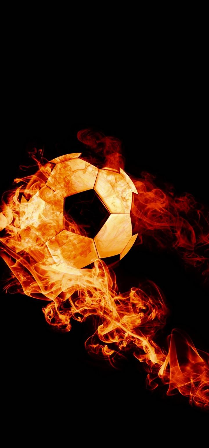 Ball Fire Football Wallpaper 720x1544