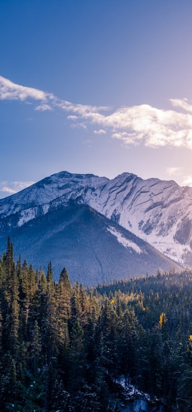 Banff Canada Mountains Peaks Snow Covered Wallpaper 720x1544 380x815