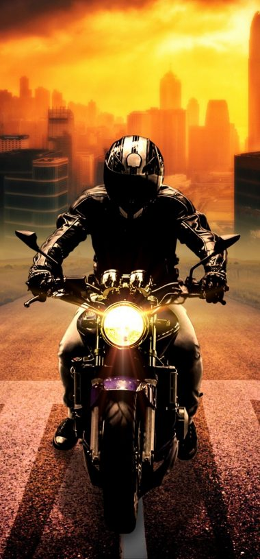 Biker Bike Motorcycle Wallpaper 720x1544 380x815