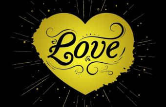 Black Yellow Love Heart Wallpaper 720x1544 340x220
