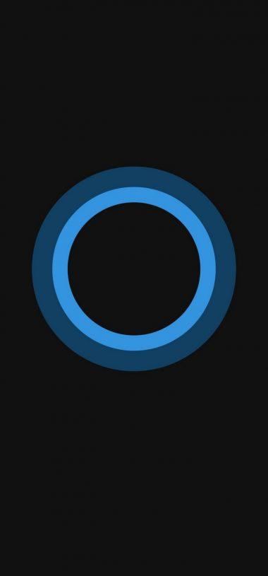 Bluish Circles Minimal Wallpaper 720x1544 380x815