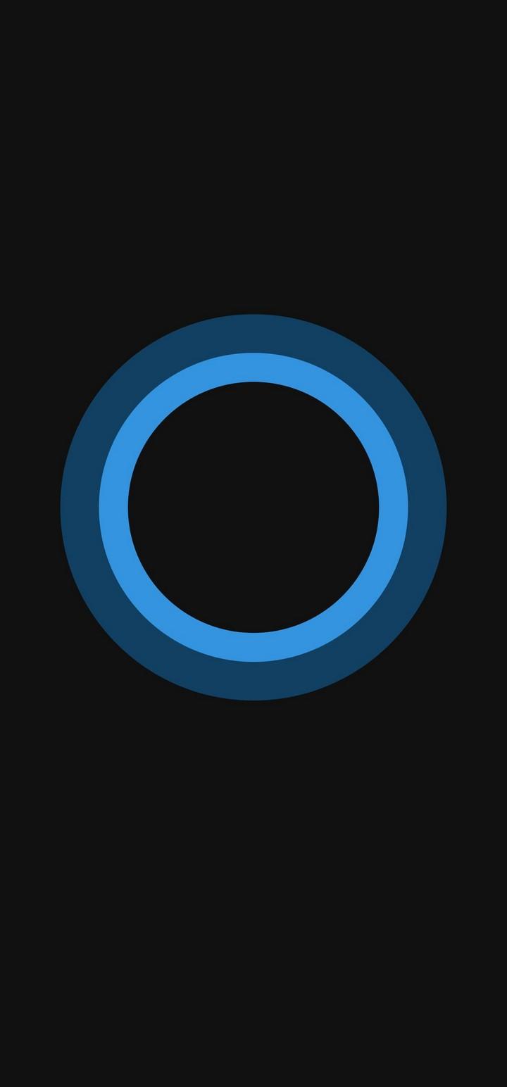 Bluish Circles Minimal Wallpaper 720x1544