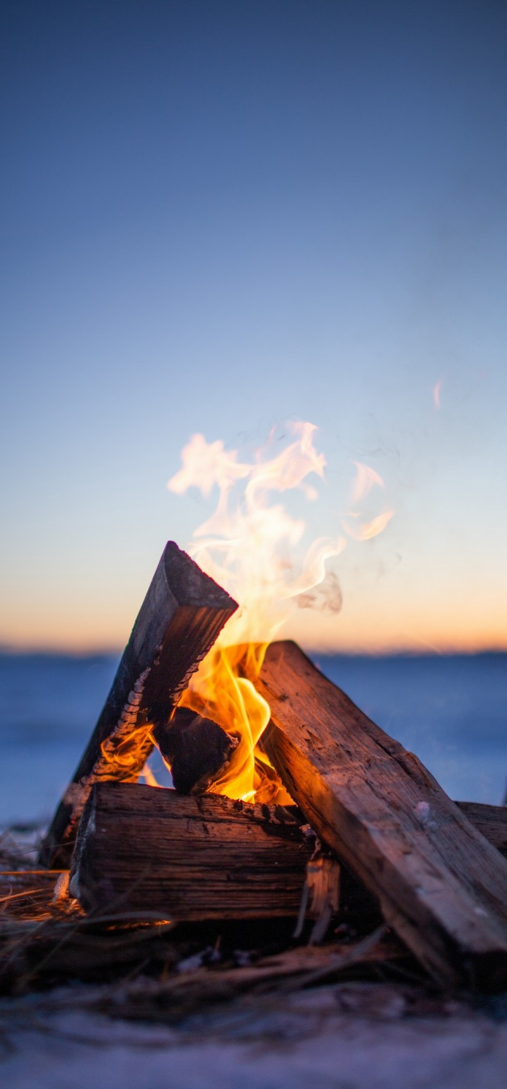 Bonfire Firewood Fire Wallpaper 720x1544