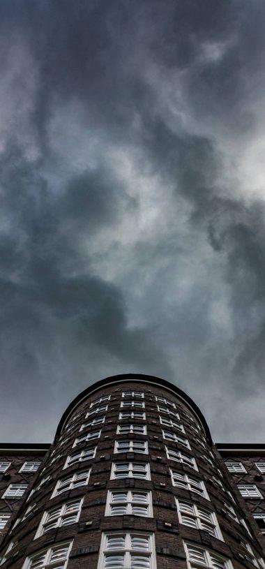 City Building Black Sky Wallpaper 720x1544 380x815