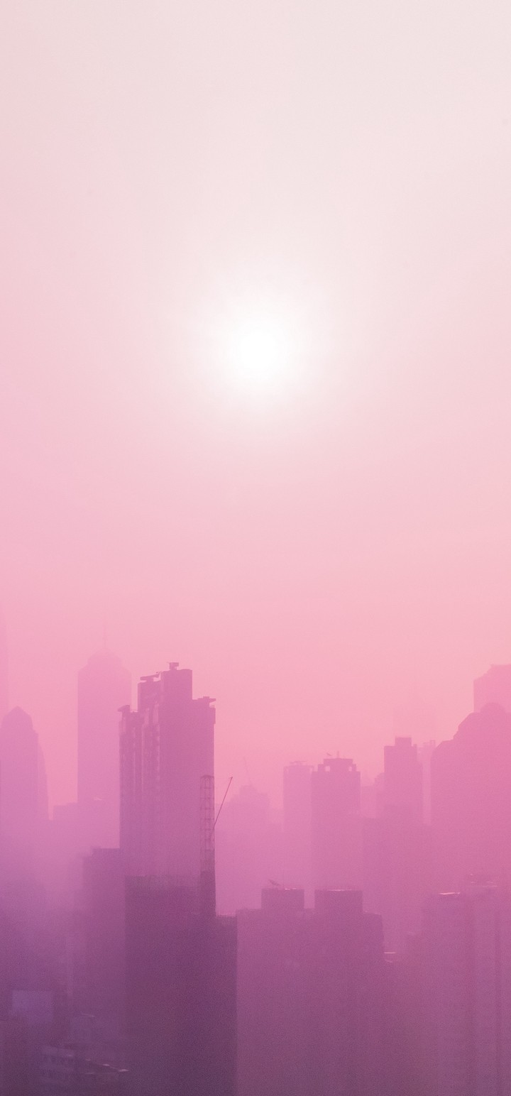 City Fog Sun Wallpaper 720x1544