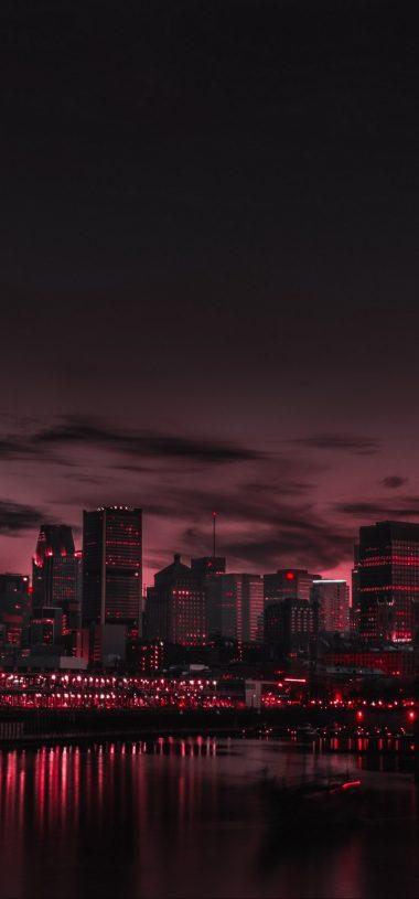 City Night Panorama Wallpaper 720x1544 380x815