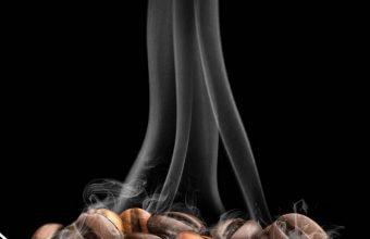 Coffee Beans Spoon Minimal Wallpaper 720x1544 340x220
