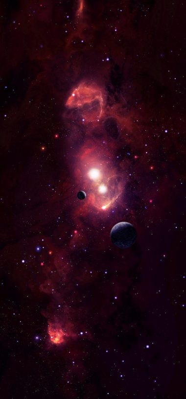 Cosmic Space Planets Wallpaper 720x1544 380x815