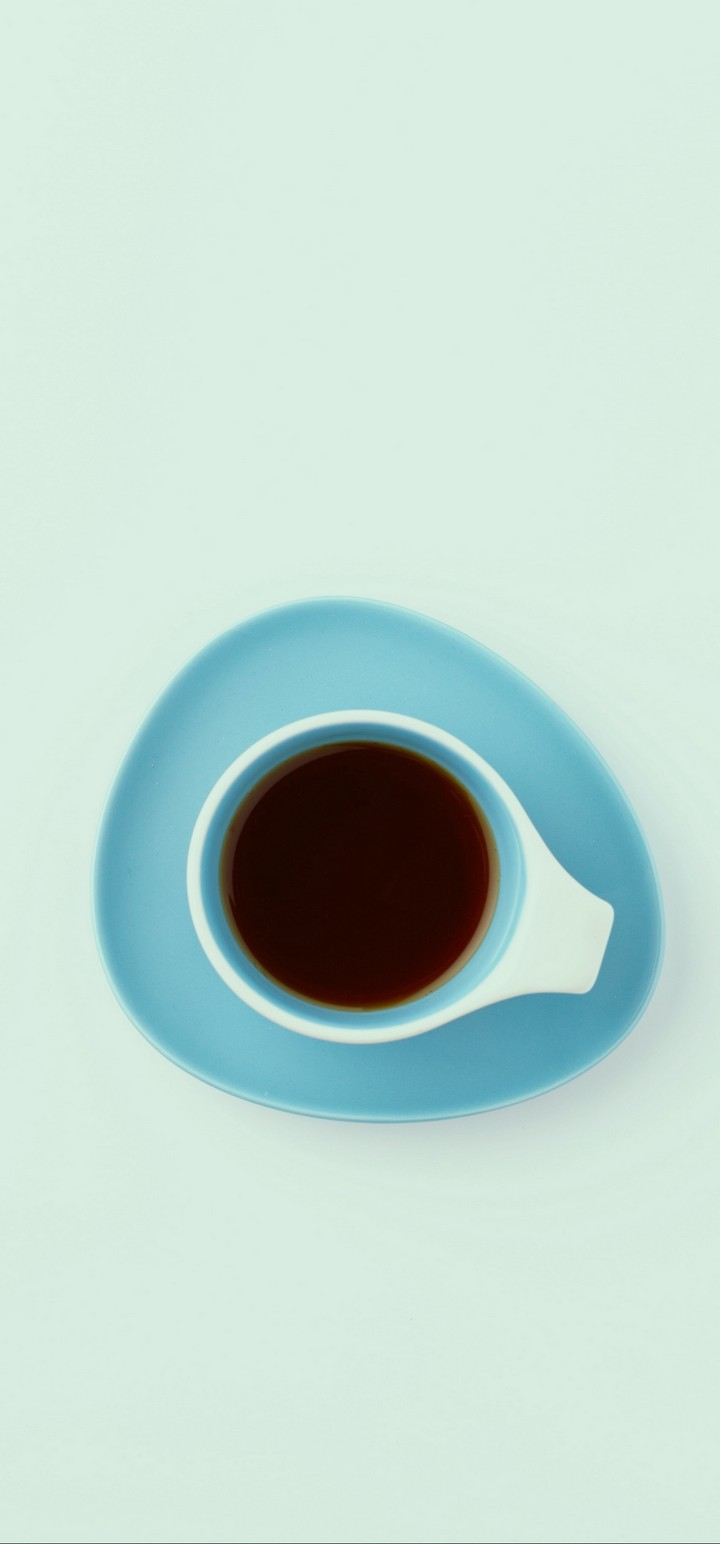 Cup Top View Minimalism Wallpaper 720x1544