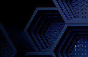 Dark Blue Boxes 3D Abstract Wallpaper 720x1544 340x220