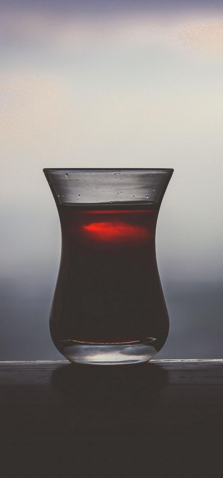 Dark Glass Juice Drink Wallpaper 720x1544