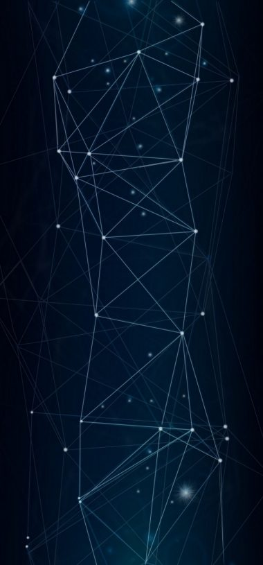 Dark Network Connection Wallpaper 720x1544 380x815