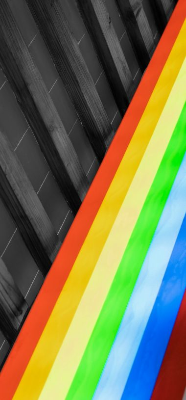 Design Colorful Rainbow Wallpaper 720x1544 380x815