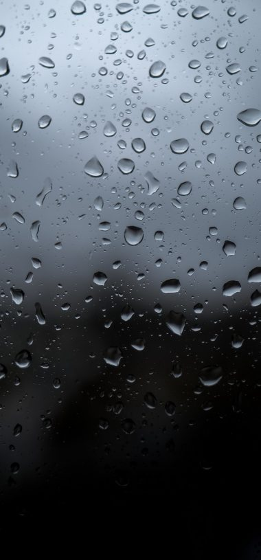 Drops Wet Glass Wallpaper 720x1544 380x815