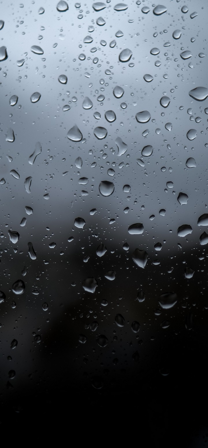 Drops Wet Glass Wallpaper 720x1544