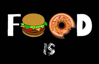 Food Love Real Love Funny Wallpaper 720x1544 340x220
