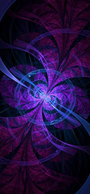 Fractal Lines Circles Wallpaper 720x1544 380x815