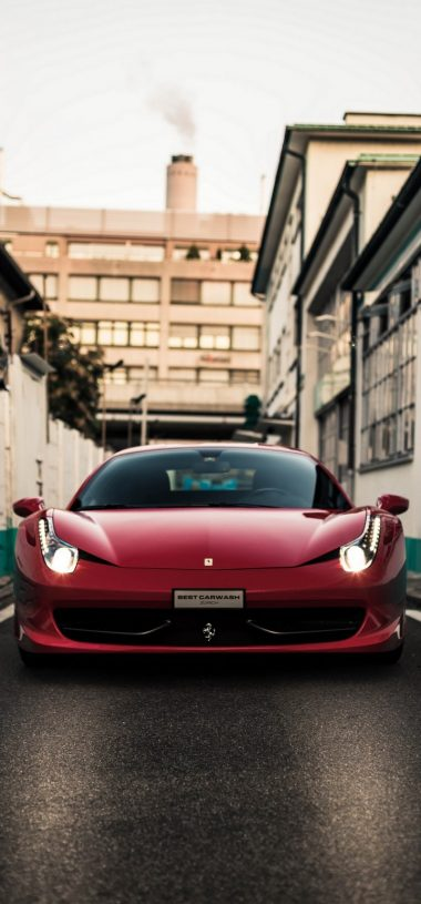 Front View Red Ferrari Car Wallpaper 720x1544 380x815