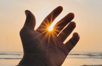 Hand Fingers Sun Wallpaper 720x1544 340x220