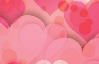 Hearts Love Pinky Wallpaper 720x1544 340x220
