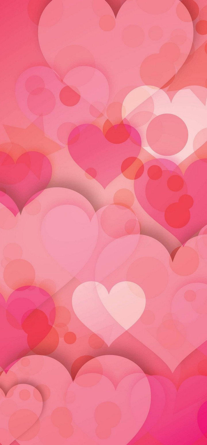 Hearts Love Pinky Wallpaper 720x1544