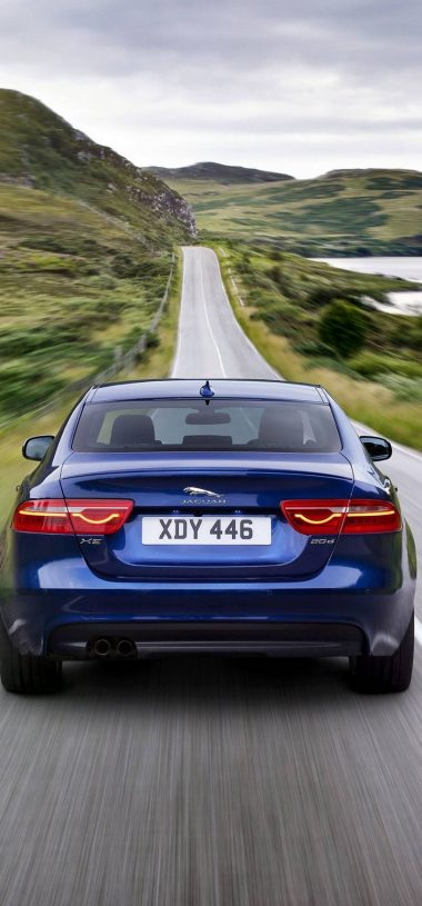 Jaguar XE Car Blur Wallpaper 720x1544 380x815