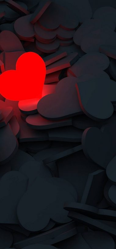 Lightning Love Red Heart Wallpaper 720x1544 380x815