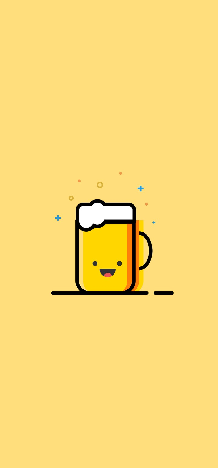 Minimal Emoji Cup Of Tea Wallpaper 720x1544