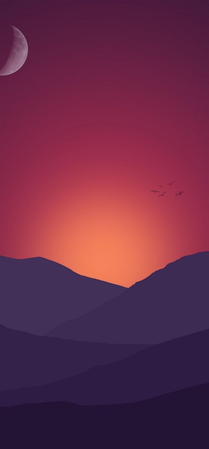 Minimal Nature Mountain Wallpaper 720x1544