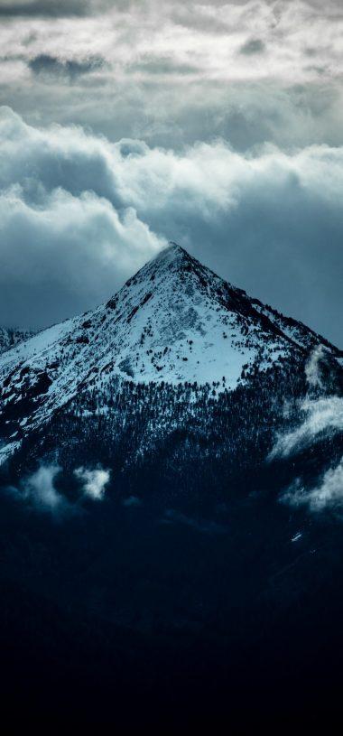 Mountain Peak Clouds Wallpaper 720x1544 380x815