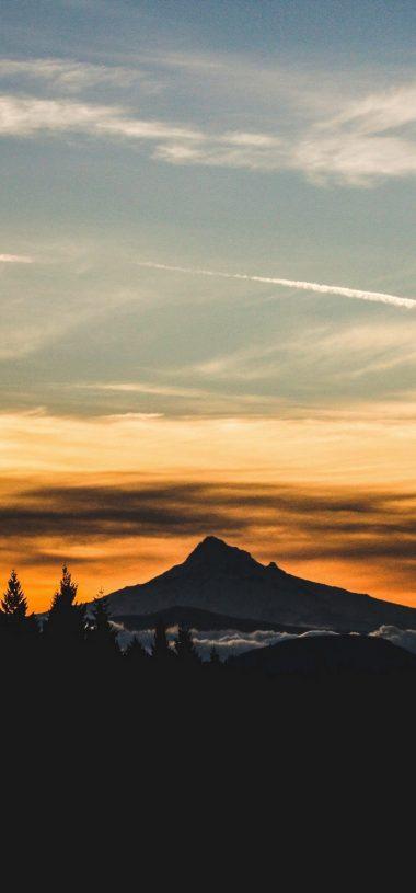 Mountain Sunset Sky Nature Wallpaper 720x1544 380x815
