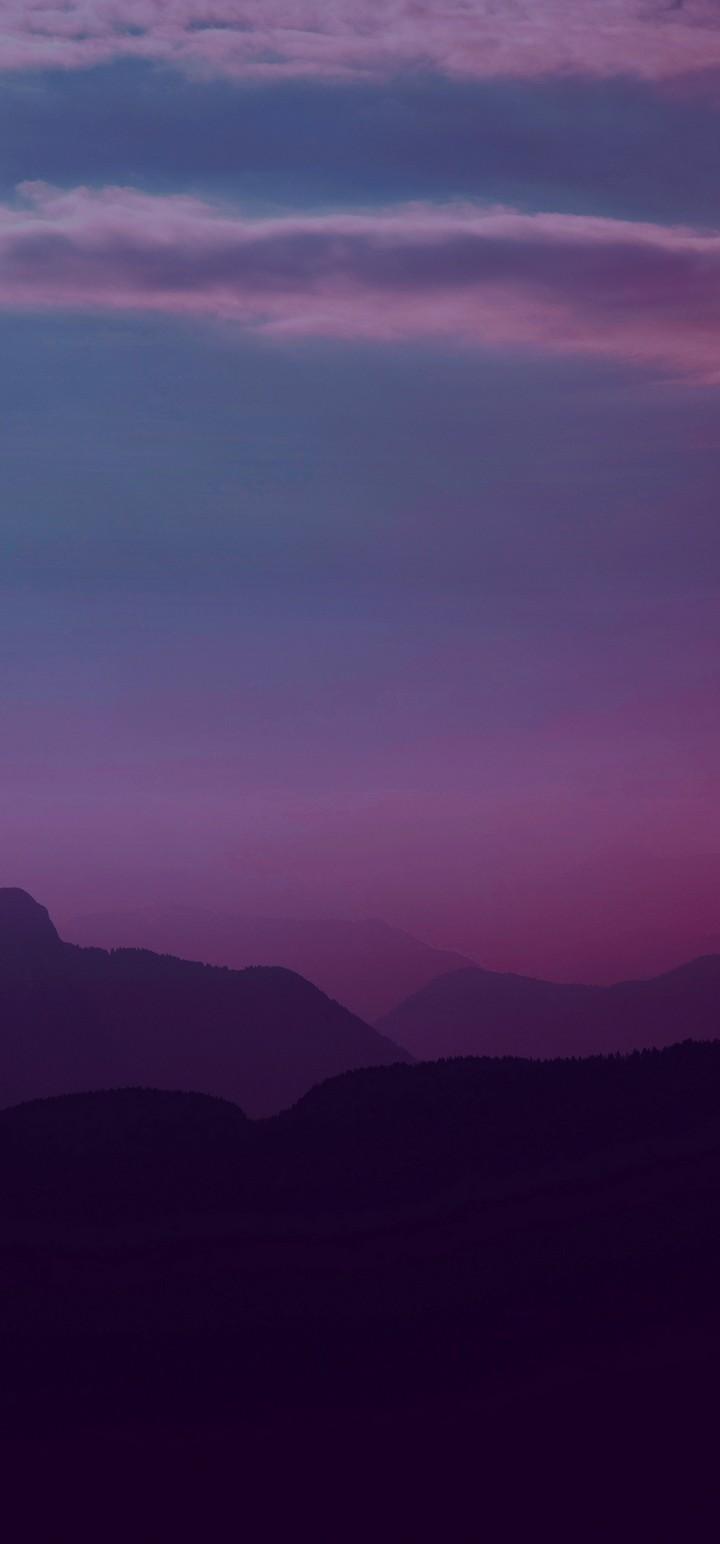 Mountains Twilight Landscape Wallpaper 720x1544