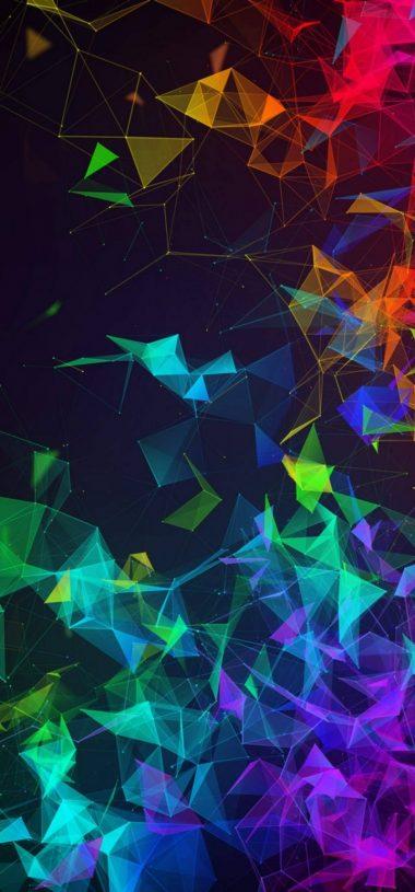 Multi Color Polygon Wallpaper 720x1544 380x815