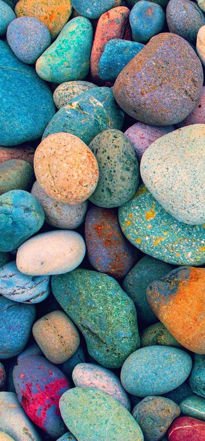 Multicolored Stones Wallpaper 720x1544