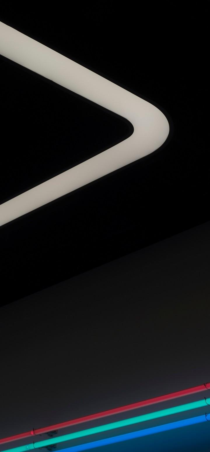 Neon Backlight Lines Wallpaper 720x1544
