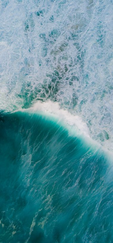Ocean Waves Aerial View Wallpaper 720x1544 380x815