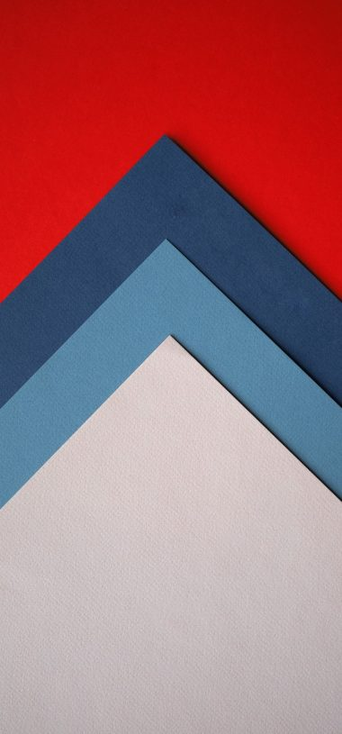 Paper Colorful Triangles Wallpaper 720x1544 380x815