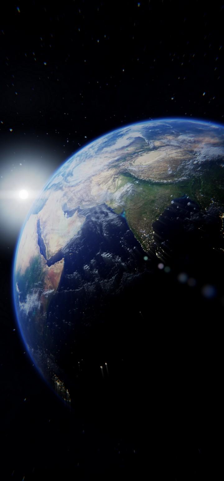 Planet Flash Bright Wallpaper 720x1544