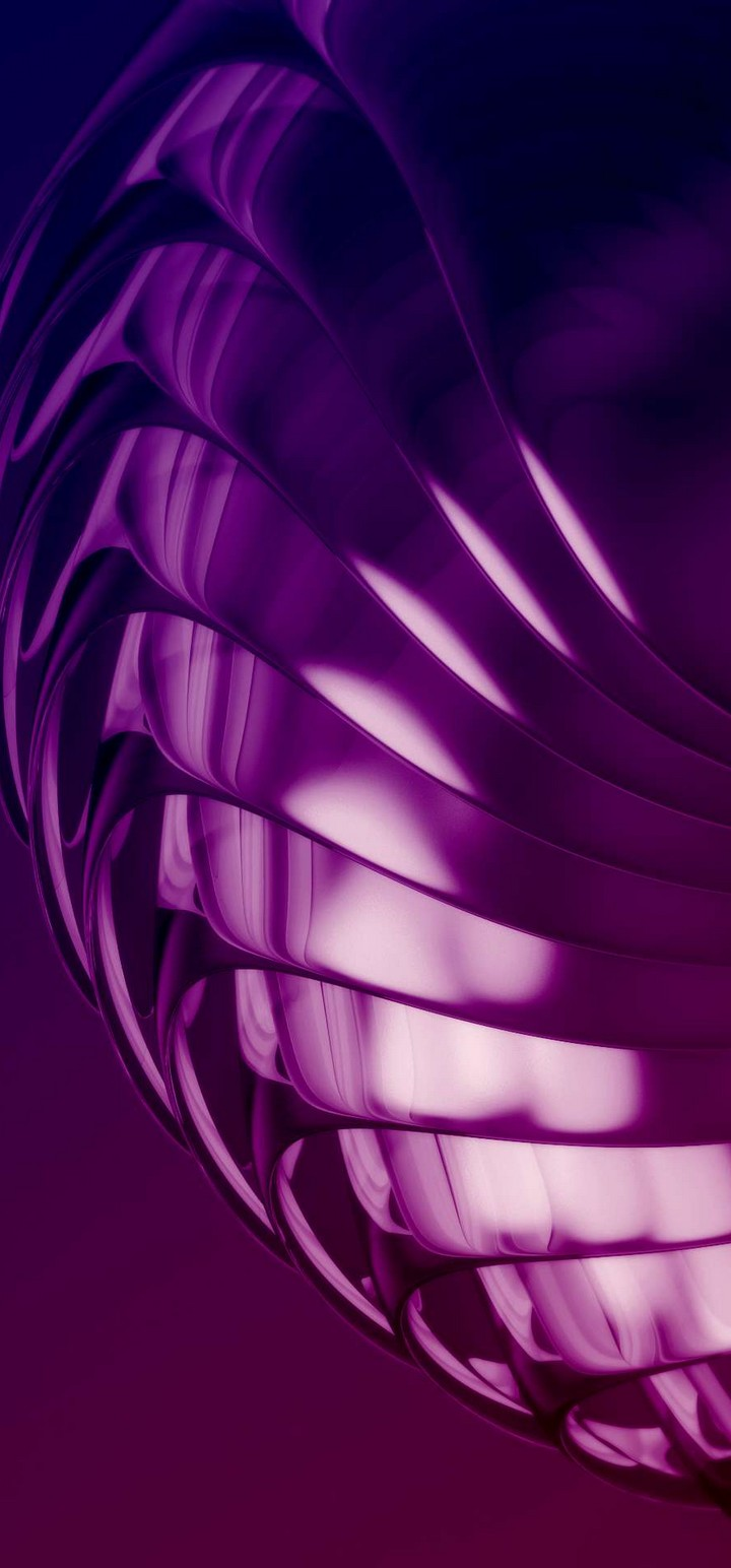 Purple Layers 3D Abstract Wallpaper 720x1544