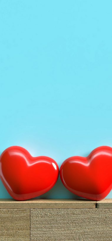 Red Hearts Love Wallpaper 720x1544 380x815