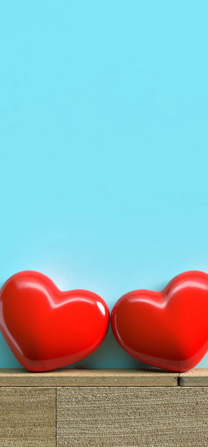 Red Hearts Love Wallpaper 720x1544