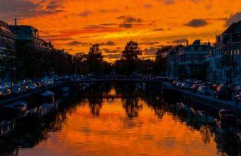 River Sunset Canal Wallpaper 720x1544 340x220